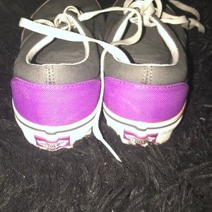 Vans Shoes - Gray and purple vans